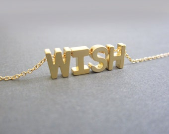Alphabet necklace  Etsy