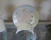 Antique Hand Painted Delinieres and Co D and C France J.G. Limoges Plate Artist Signed 1894-1900