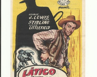 Free shipping-Vintage film flyer - Zorro's black whip 1944