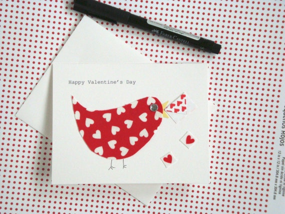 Valentine's Day Card / Messenger Bird Valentine Card