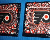 Philadelphia Flyers Slate Coaster Handcrafted Set of 2 HOCKEY