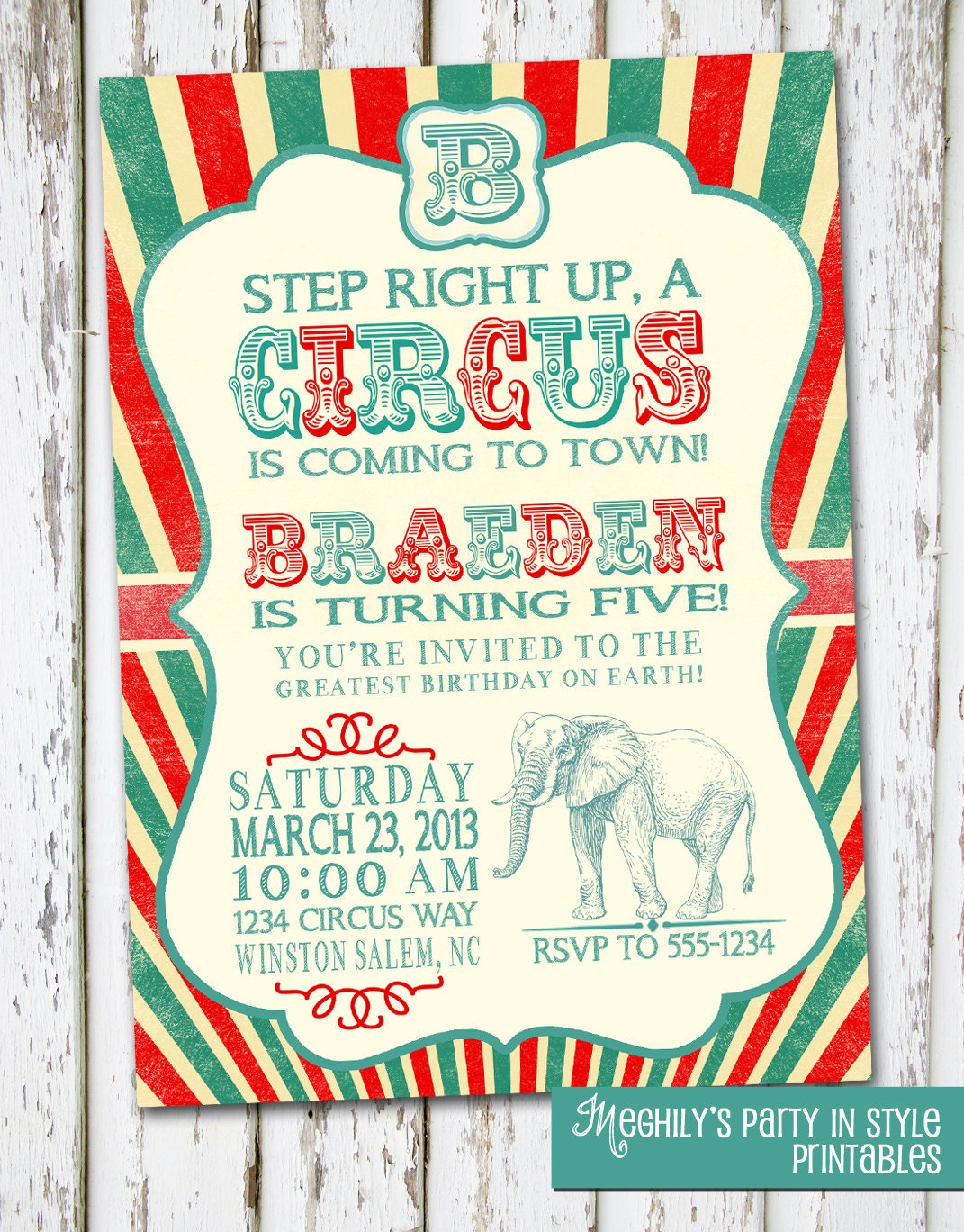 Vintage Circus Invitations 116