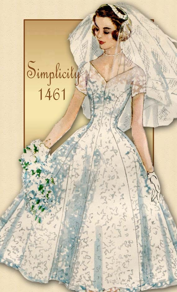 Reserved Do Not Purchase Simplicity 1461 1950s Wedding Dress