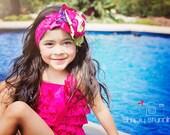 Petti Romper - Lace Romper - Baby Lace Romper - Hot pink Romper - Baby Romper - Ruffle Romper - Lace Dress - Baby Outfit