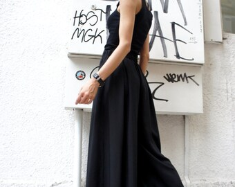 Loose  Black Pants / Wide Leg Pants Spring / Summer  Collection A05046
