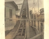 1919 Black and White Photo: Roller Coaster at White City Amusement Park  (Oswego), New York
