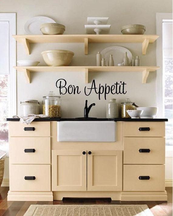Bon Appetit Kitchen Custom Vinyl Wall Decal-Kitchen Wall
