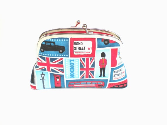 Bold London coin purse by PursePoppet