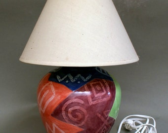 Lamp Ceramic Home Decor Home and Living Accent Lamps Colorful Childs Lamp Small Lamps  10x7x7""