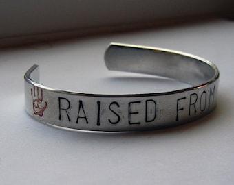 Supernatural Raised From Perdition Hand Stamped Bracelet - Supernatural Jewelry Destiel Bracelet Castiel Dean Winchester Profound Bond SPN