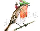 Robin Hood Art Print - 8x10