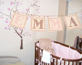 Letters for Baby Name Banners Cotton Canvas Letters