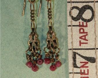3 Ruby Earrings