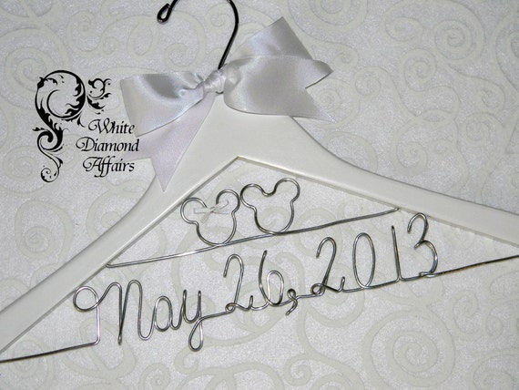 Personalized Disney Wedding Gifts: Mickey And Minnie Mouse Disney Themed Wedding Dress Hanger