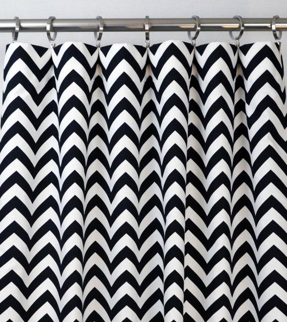 Black White Chevron Zig Zag Curtains Rod Pocket 84 96 108