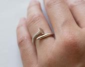 Nail Ring - Sterling Silver - Silver Nail Ring
