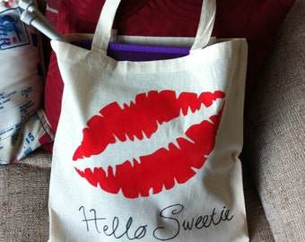 Doctor Who Inspired - Hello Sweetie - Handpainted Canvas Bag