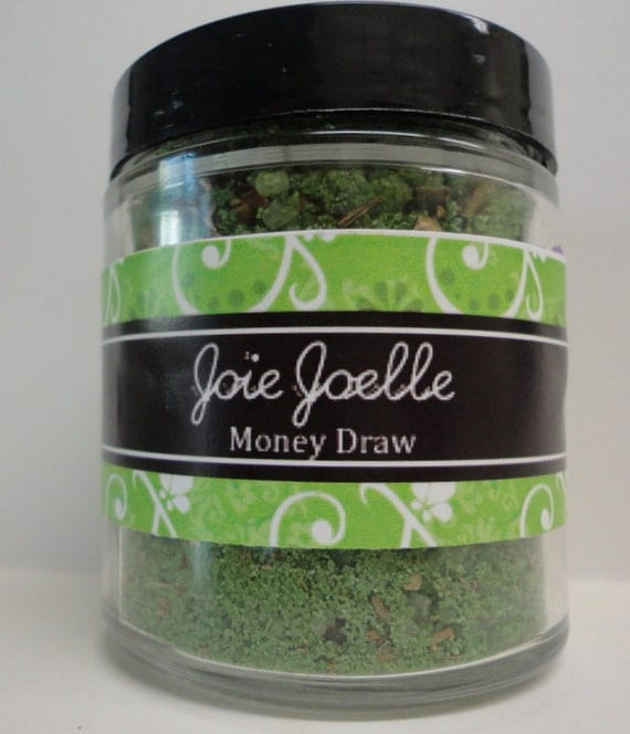 Money Draw Green Bath Salts, for attracting money, good luck, wealth, prosperity, abundance,  good fortune