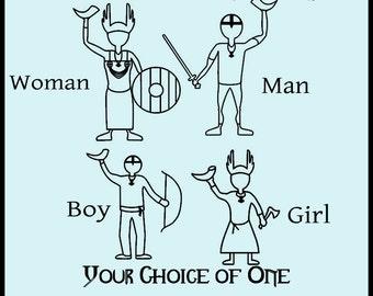 Little Viking Family (Man, Woman, Boy Girl)