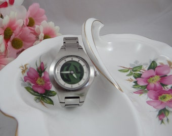 Working Cool Looking Fossil Ladies Watch with LCD background JR-7949