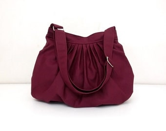Handbags Canvas Bag Diaper bag Shoulder bag Hobo bag Handbags Tote bag Messenger bag Purse Everyday bag  Maroon  Dahlia