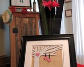 Anniversary Gift, Wedding Gift, First Anniversary Gift, Paper Anniversary, Song Lyrics, Wedding Tree, Unique Wedding Gift,  Framed