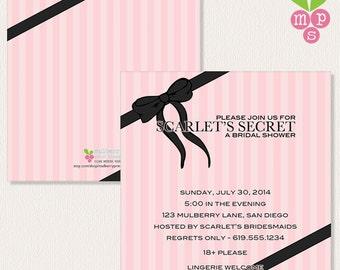 Adult Bridal Shower- Victoria's Secret Inspired Printable Invitation