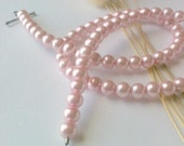 Pink Pearl Necklace with Heart Shaped Decorative Clasp