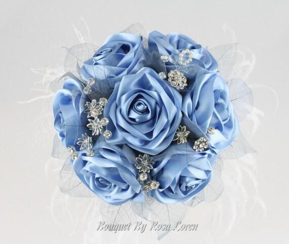 blau blaue brautstrauss blaue von bouquetbyrosaloren auf etsy. Black Bedroom Furniture Sets. Home Design Ideas