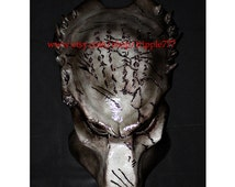 1:1 Full Scale Replica Predator mask, Predator costume, Predator helmet, Home decor, Wall mask, Halloween mask, Steampunk mask AVP wolf PD12