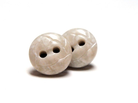 Marble Button Earrings by ChatterBlossom