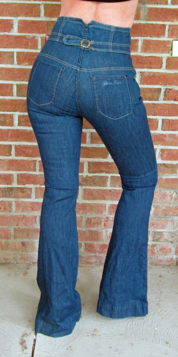 High Waisted Denim Jeans Dark Denim GUESS NEW 90s Vintage