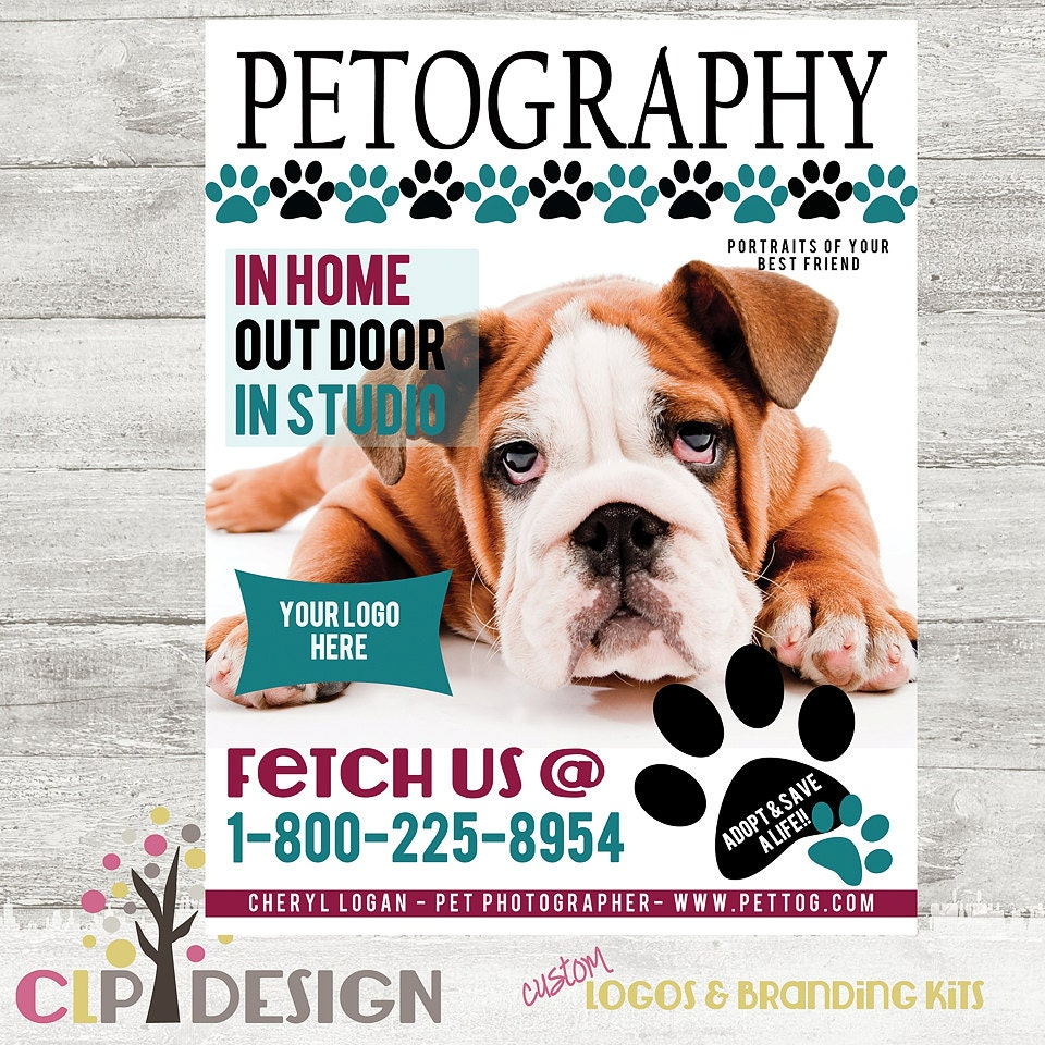 pet photography magazine cover template photoshop by clpdesign. Black Bedroom Furniture Sets. Home Design Ideas