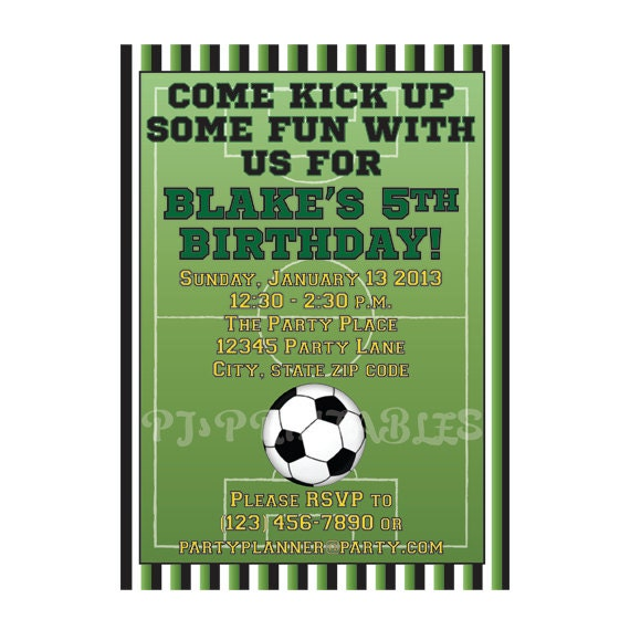 Soccer birthday party invitation custom digital file by pj il570xn filmwisefo Image collections