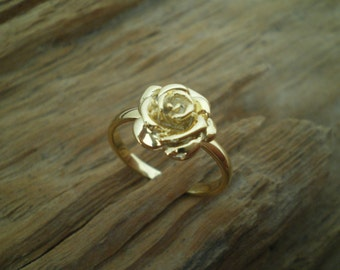 Silver rose ring,rose ring,silber rosen,tiny rose
