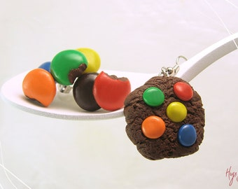 Candy Cookie Earrings, Chocolate Cookie Jewelry, Scented Jewelry, Mini Food Jewelry, Polymer Clay Earrings, Foodie Gift, Mismatched Earrings