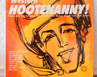 Classic Country Record - Western Hootenanny - 60s Vintage Vinyl LP