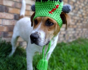 Frankenstein Dog Hat Costume - The Frankenstein Halloween Costume for Dogs