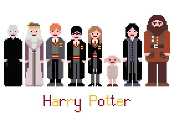 harry potter pixels