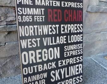 Wall Sign - Mt. Bachelor, Bend Oregon