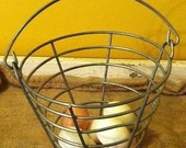 FATHER'S DAY SALE  Vintage Wire Golf Ball or Egg Basket