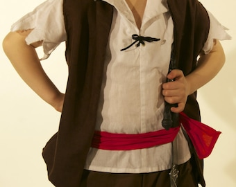 Boys Pirate costume handmade in all sizes