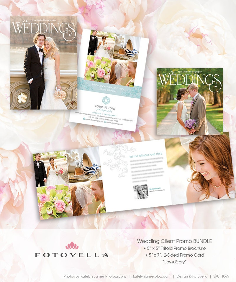 Wedding Photography Marketing 5x7 Promo Card Plus By FOTOVELLA