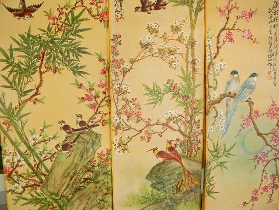vintage japanese lithograph wall hanging wall paper vol 2