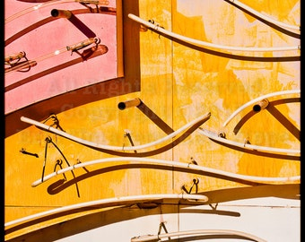 Abstract Yellow And Pink Art, Abstract Neon Art, Neon Wall Art, Old Neon Signs, Fine Art Photography, Las Vegas Neon Museum
