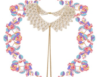 Angela Lace collar necklace
