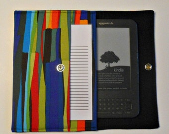 iPad Mini, Kindle, Nook, Kobo, Sony Reader, Samsung Galaxy, Small eReader Padded Case (READY TO SHIP) - Rainbow