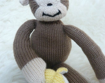 Hand knitted cuddly monkey