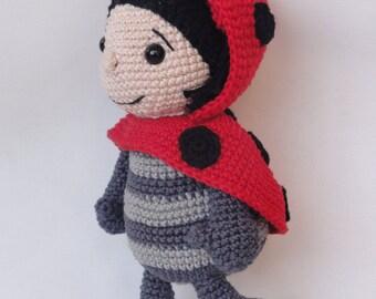 Amigurumi Crochet Pattern - Dotty the Ladybug