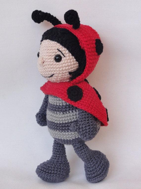 Amigurumi Crochet Pattern Dotty the Ladybug by IlDikko on Etsy